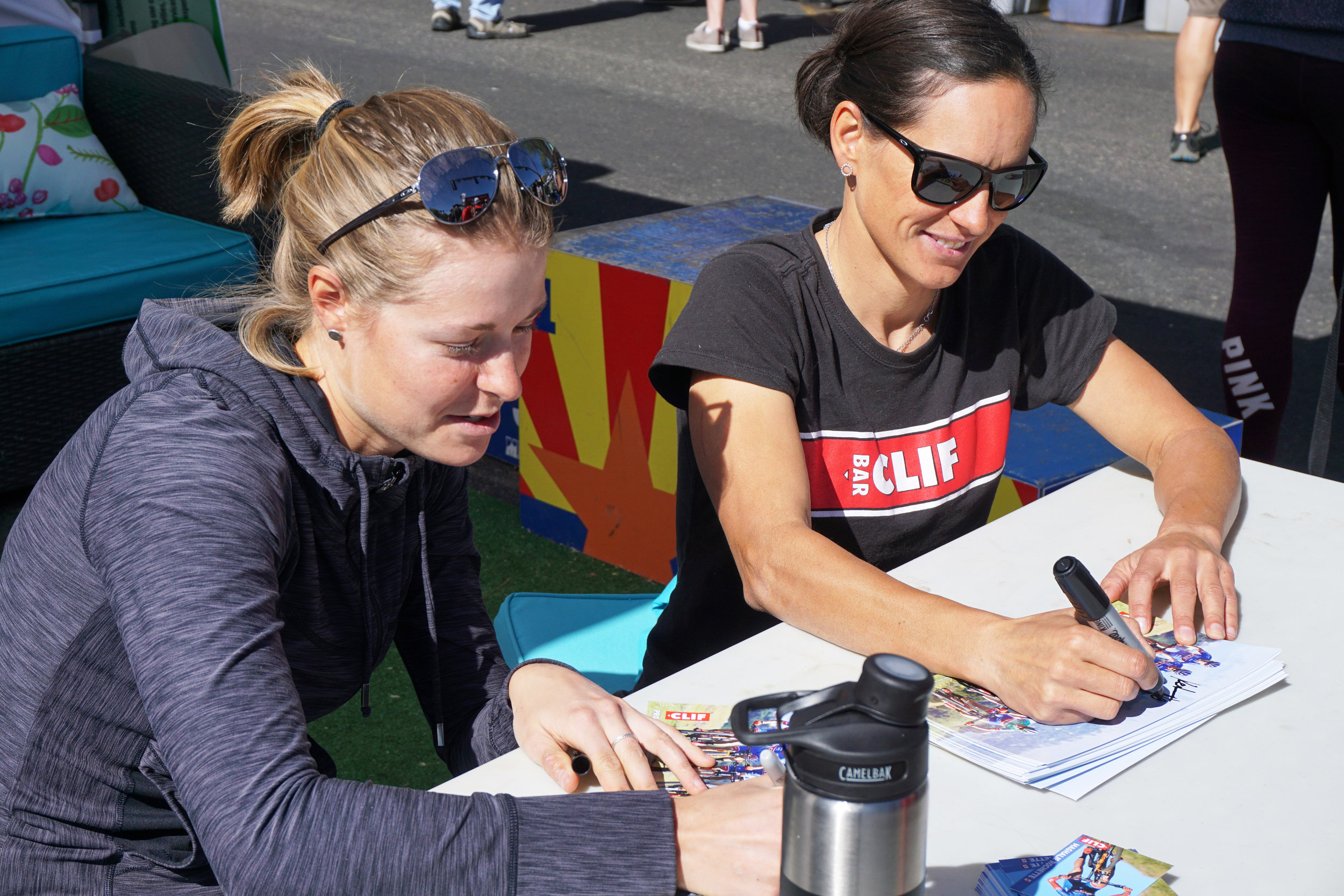 On Friday afternoon before the crit, Katerina and I got to hang out at the Soul Ride tent to sign autograph and meet cool people who were going to race the Whiskey on Saturday.