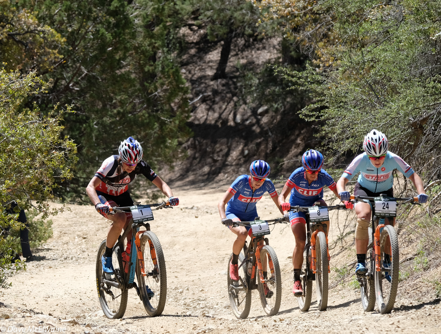 About 45 min in, Kate and Erin accelerated. I tried to follow, but I couldn't do it. They rode away from everyone and it created a separation in the group. Chloe, Rose, Katerina and I formed a group and rode together for the majority of the race. Photo by Dave McElwaine.