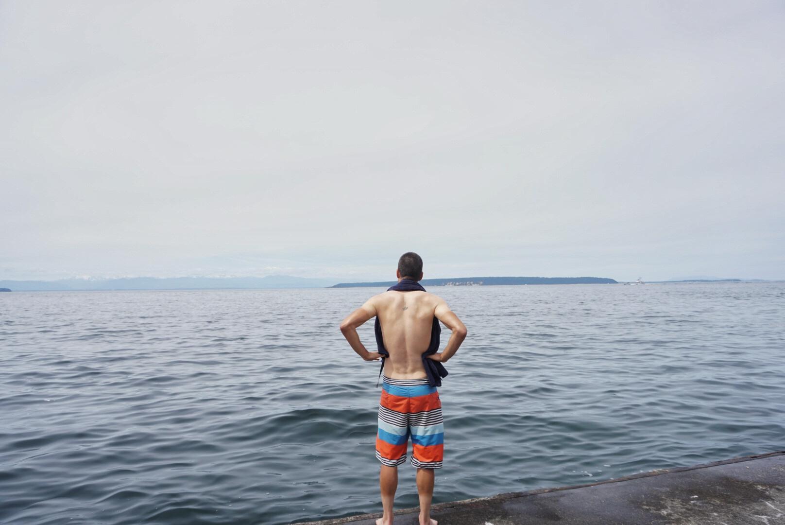 Post race ocean swim!