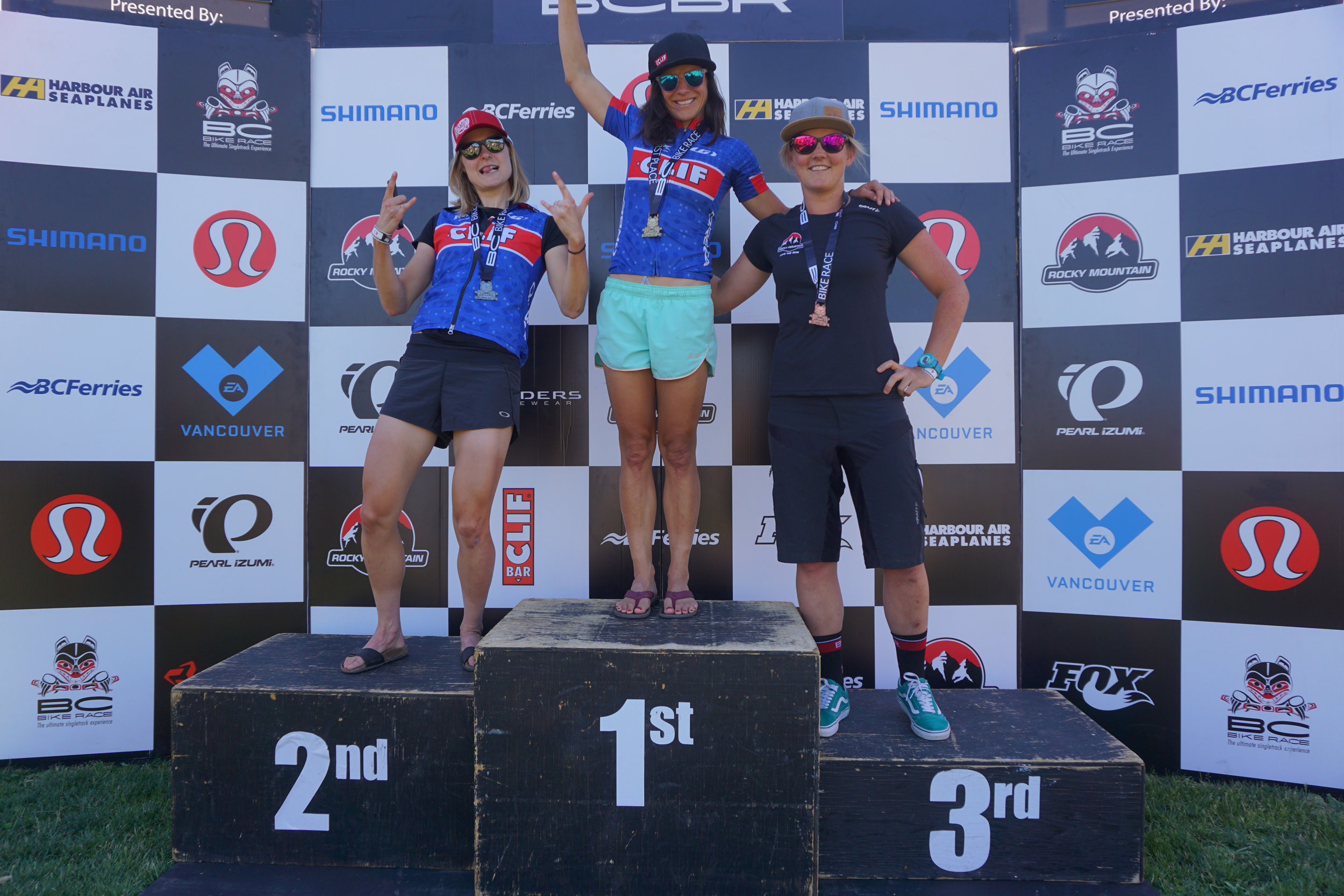 Podium with Katerina and Hielke.