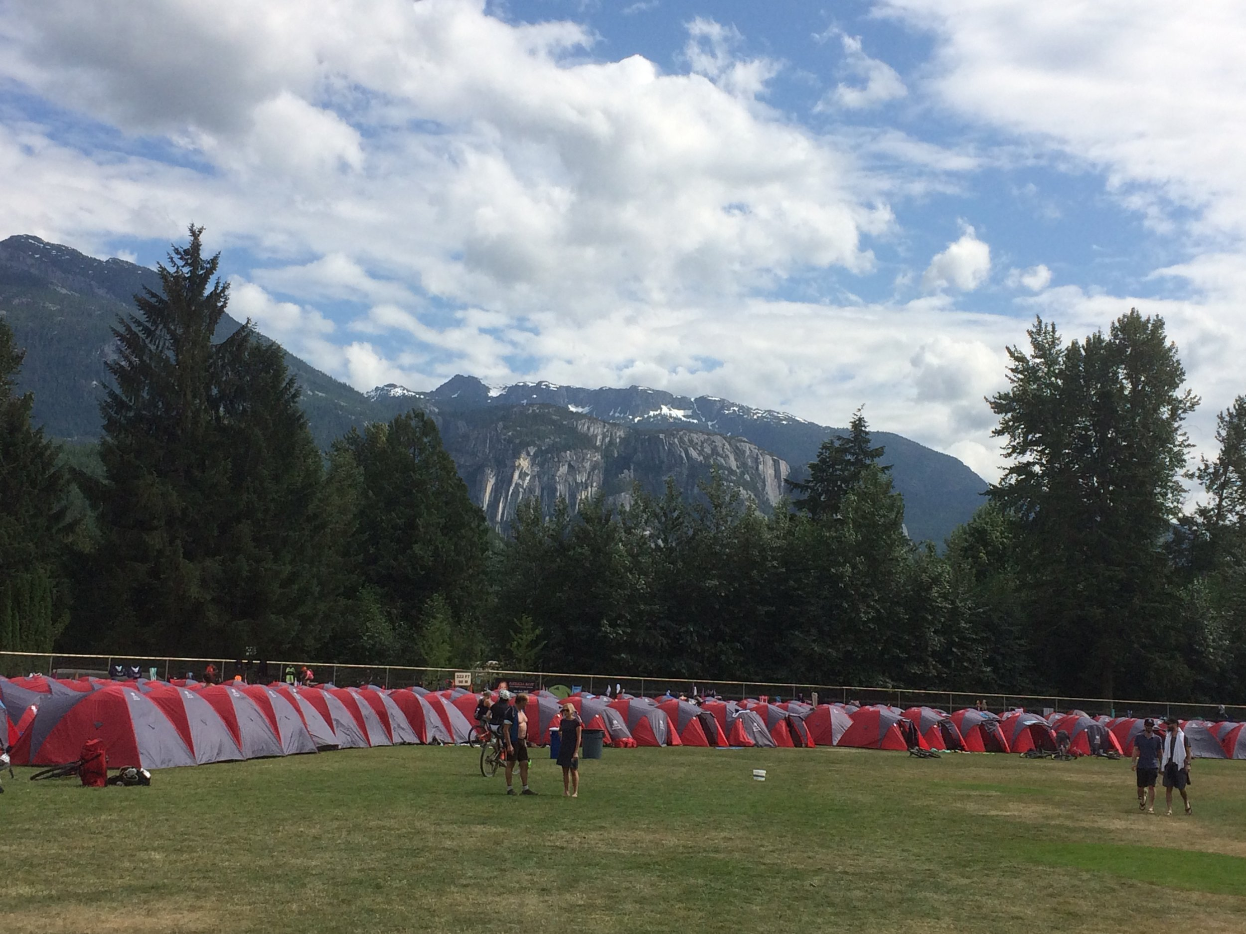 Tent city had a beautiful backdrop today.
