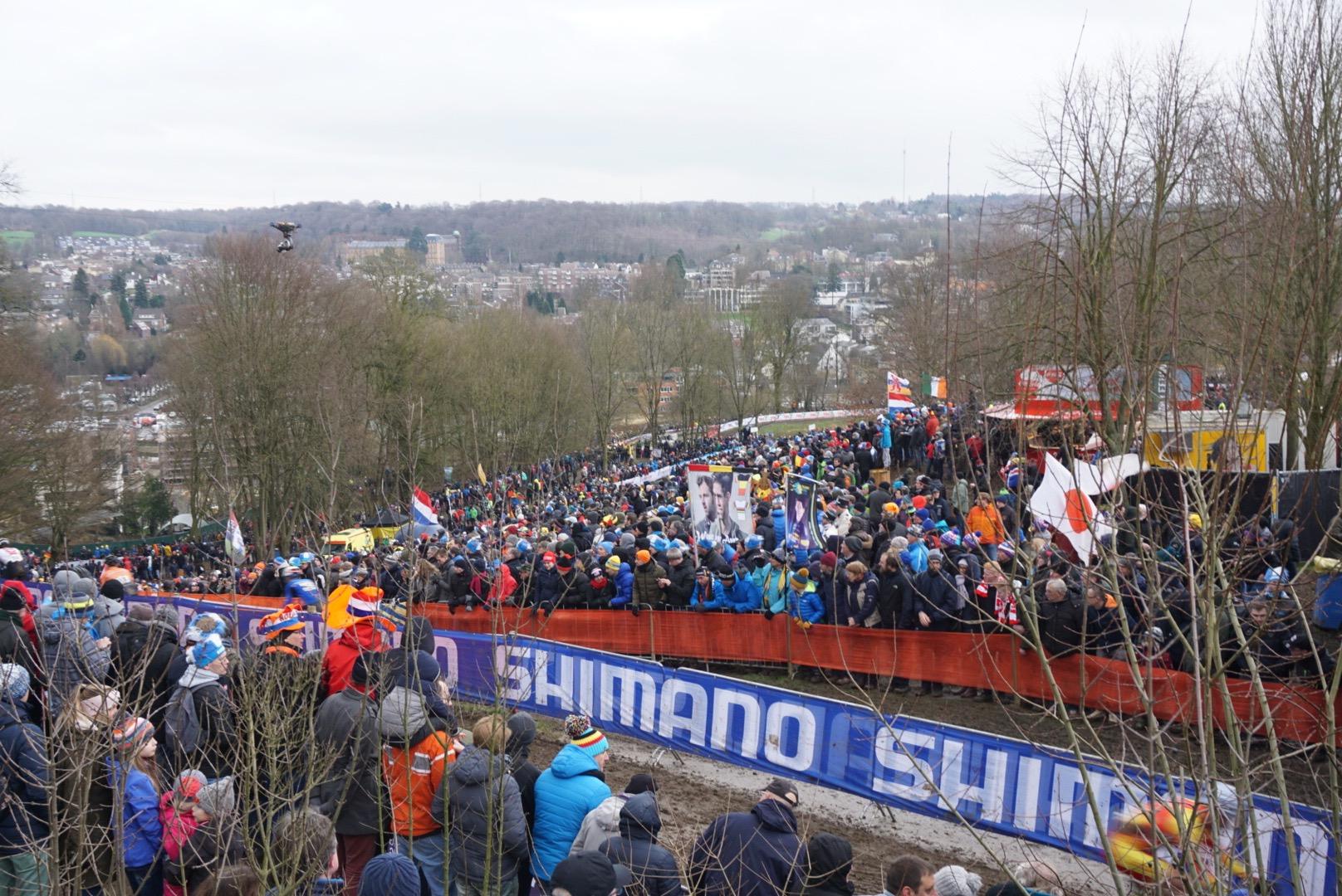 A sea of spectators. CRAYYYY-Z.