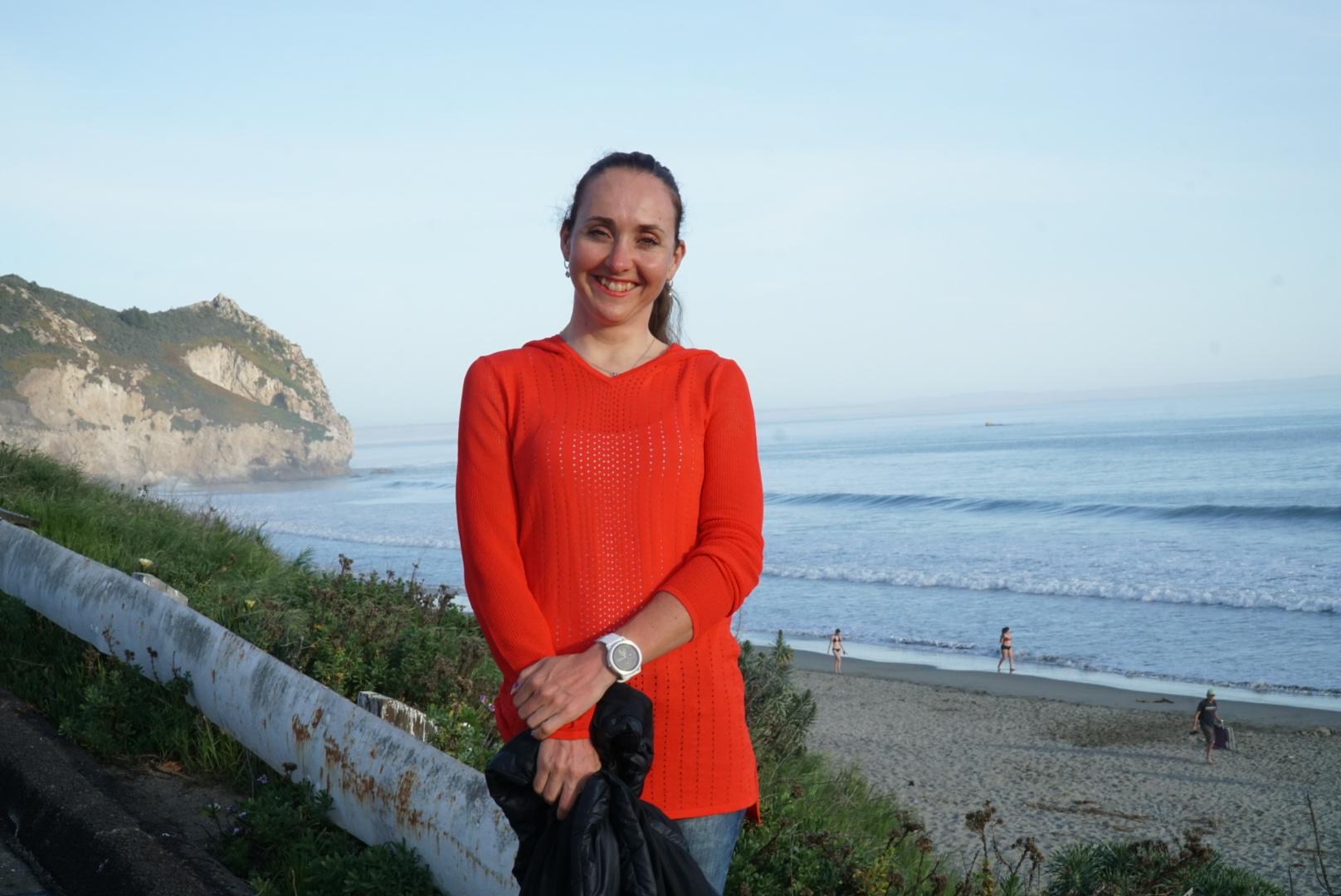 Eva looking cute in her Harbor Long Sleeve sweater.