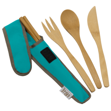 Reusable Bowls, Mugs and Utensils - This collapsible bowl is the best for travelling. Paired with a set of wooden utensils and a nice travelling mug, you'll be set and you'll do your little part to save the planet from tons of plastic waste :)