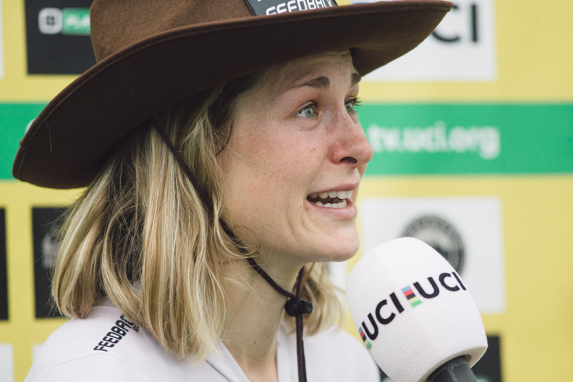 Straight out of a country song…Crying after last week's race. Photo by Balint Hamvas