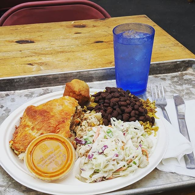 Blue Plate Special!  Cheesy Chicken Enchilada Casserole served with rice and beans, coleslaw and corn bread.  Warm up at lunch with this hearty meal today thru Friday.  Keep posted for our weekly special.  #hillmancity #bigchickie #blueplatespecial #realfood