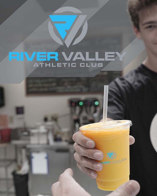 Valley cafe now open! Come try one of our signature smoothies, protein shakes, or coffee drinks 50% off this week only! #fitfood #treatyourself #rivervalleyathleticclub #valleycafe