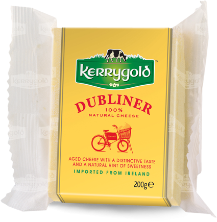 One of the best grass-fed cheeses I've had in my life. Seriously get that thing away from me before I eat it all (kerrygold.com/products/dubliner)