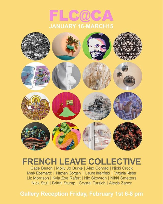 I'm showing several pieces alongside some heckin' good artists from the @frenchleavecollective at the CA Morris Hall Gallery. Reception is Feb 1st 6-8pm. Thanks to @crystal_tursich for her help in arranging things!
