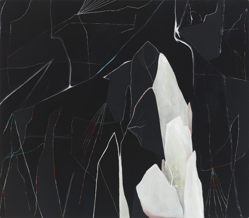 """Josh Dihle. """"Electrical Storm,"""" 2014 , oil on canvas over panel, 28″ x 32″"""
