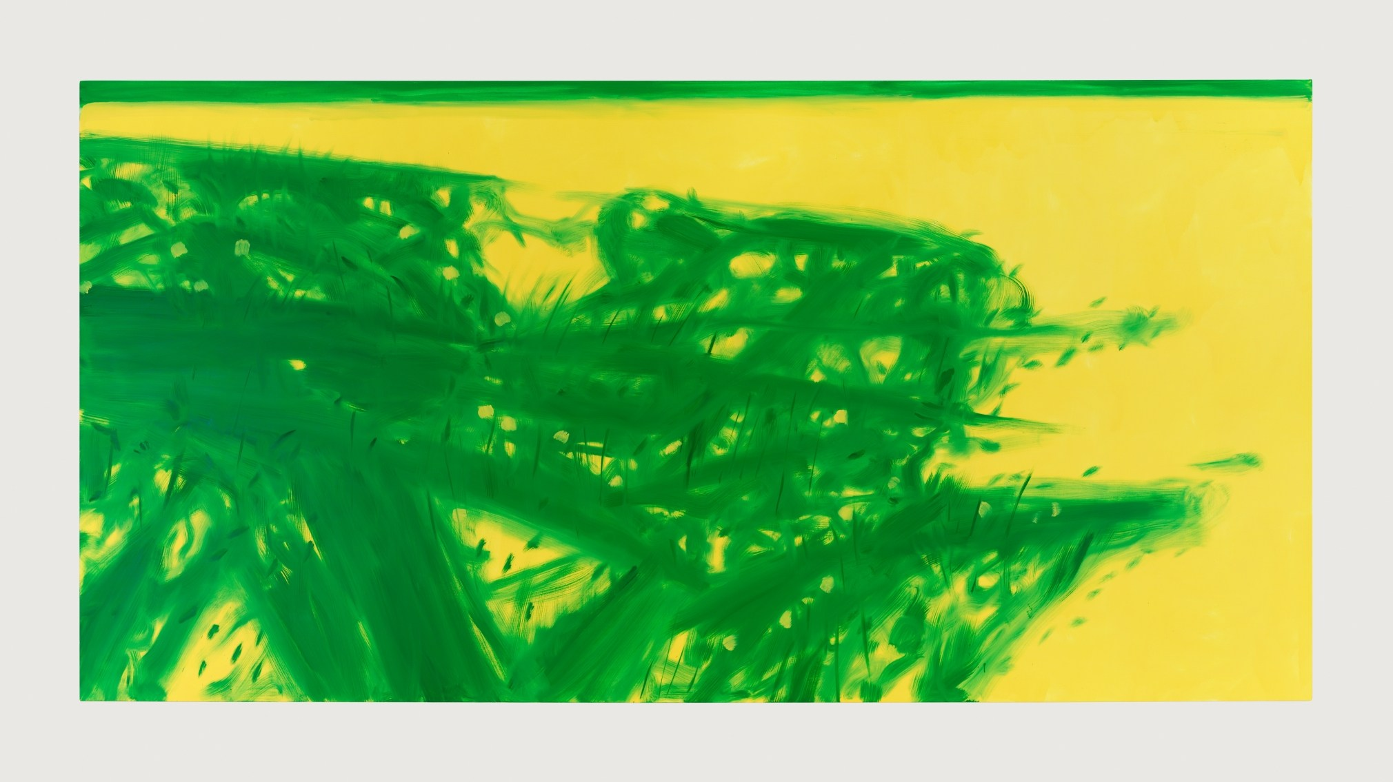 "Alex Katz, ""Grass 5"" 2017, Oil on linen, 108 x 216 inches/ Richard Gray Gallery"