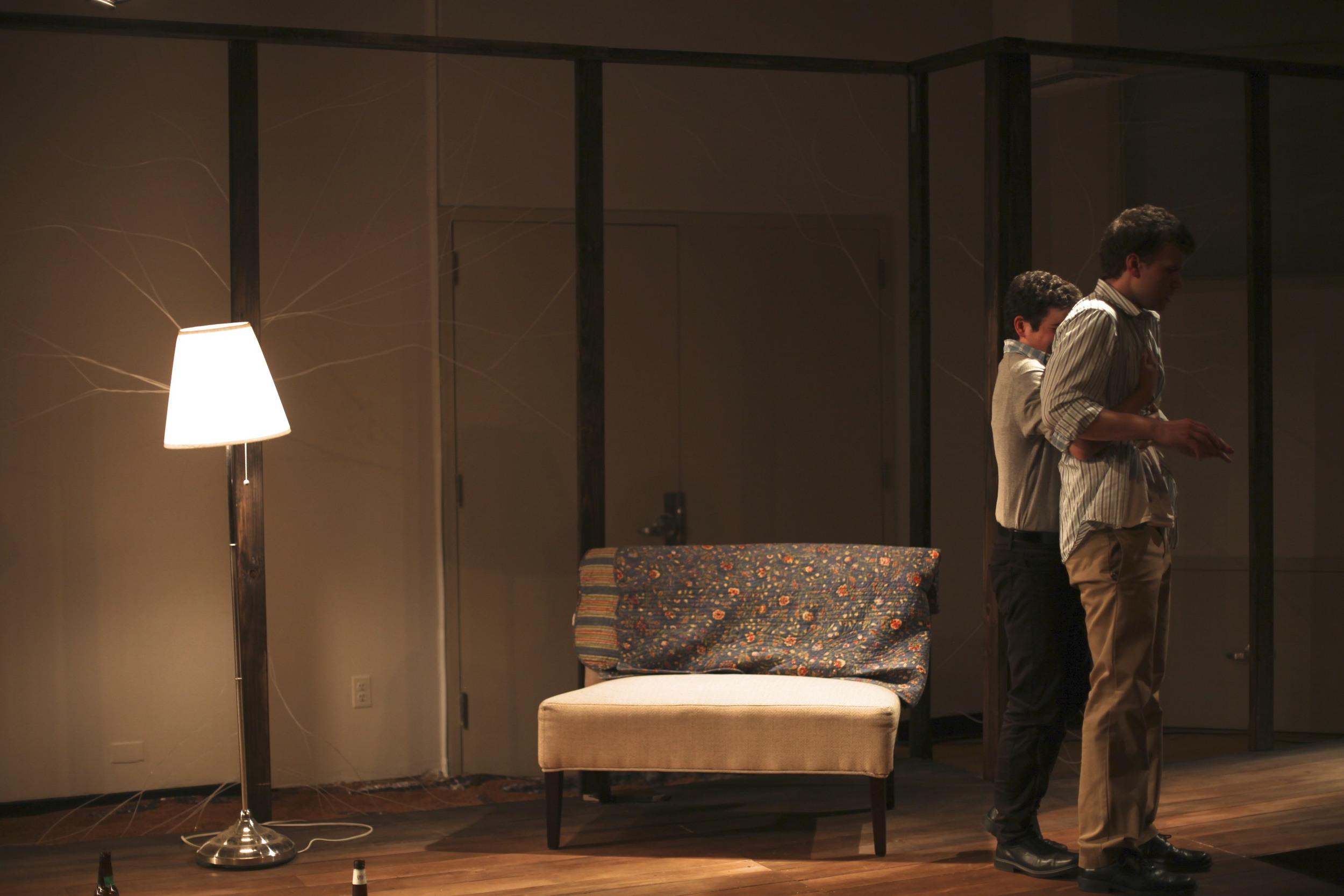 Tony Macht as Hirsch and Paul Albanas Jake  Photo Credit: Nick DeLieto