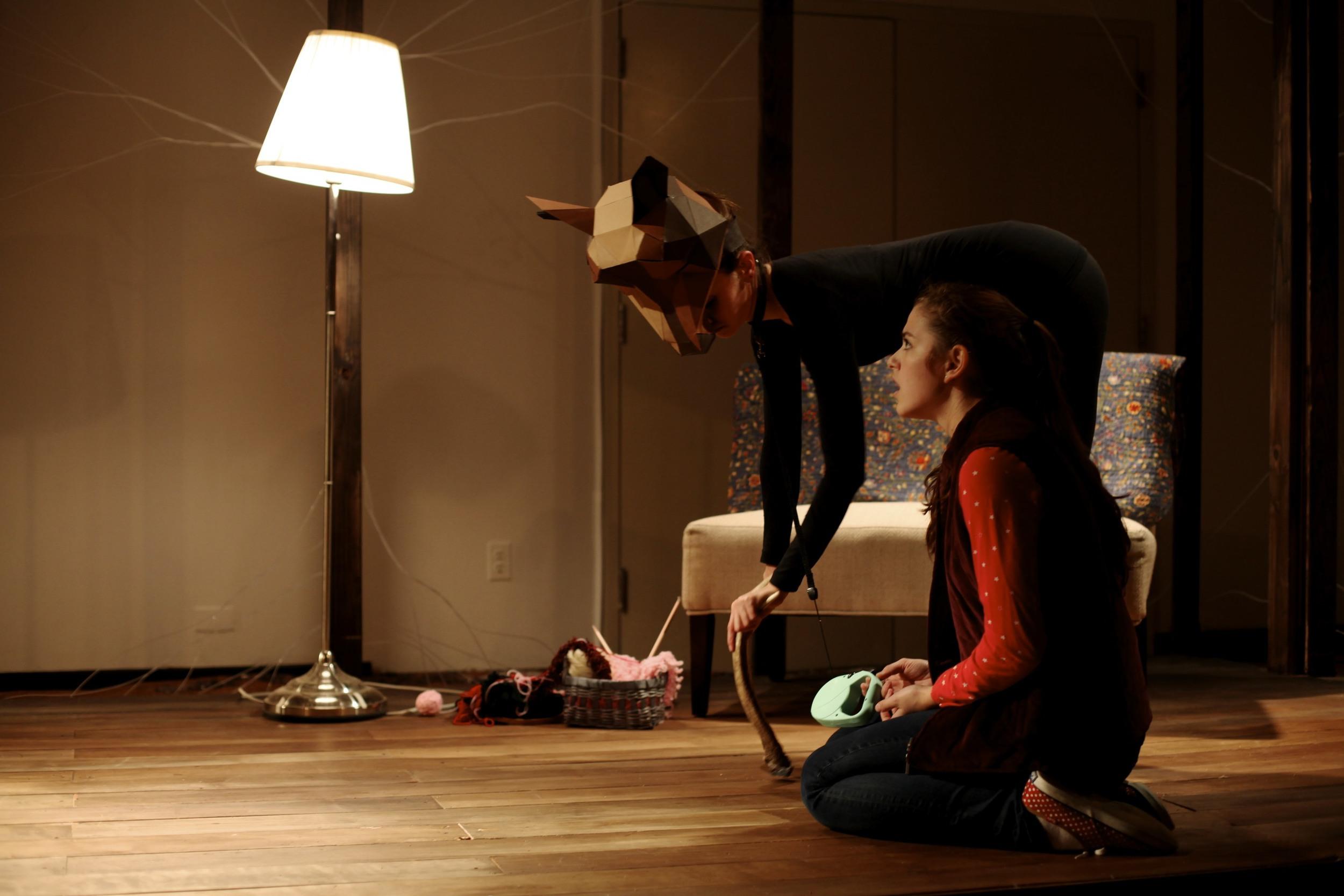 Maryn Shaw as Buck and Alice Marcondes as Morgan  Photo Credit: Nick DeLieto