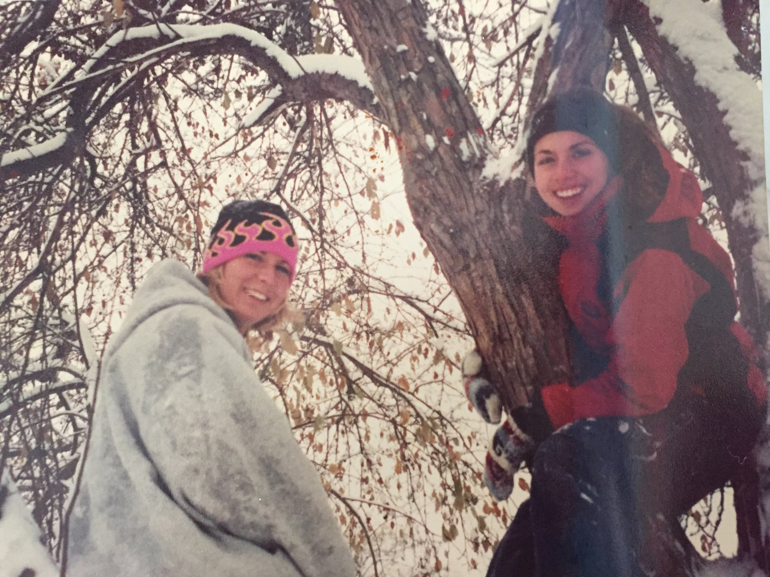 Jen and I adventuring on a snow day in Colorado. I think it is the year 2000, so that's 16 years ago. No way!