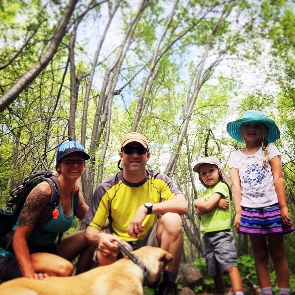 Family Hiking looks fun. Always bring snacks and water, right?