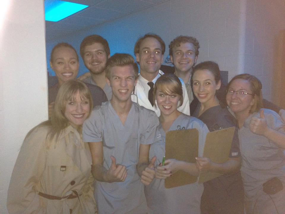 """The cast and crew of """"Baltimore Waltz"""""""