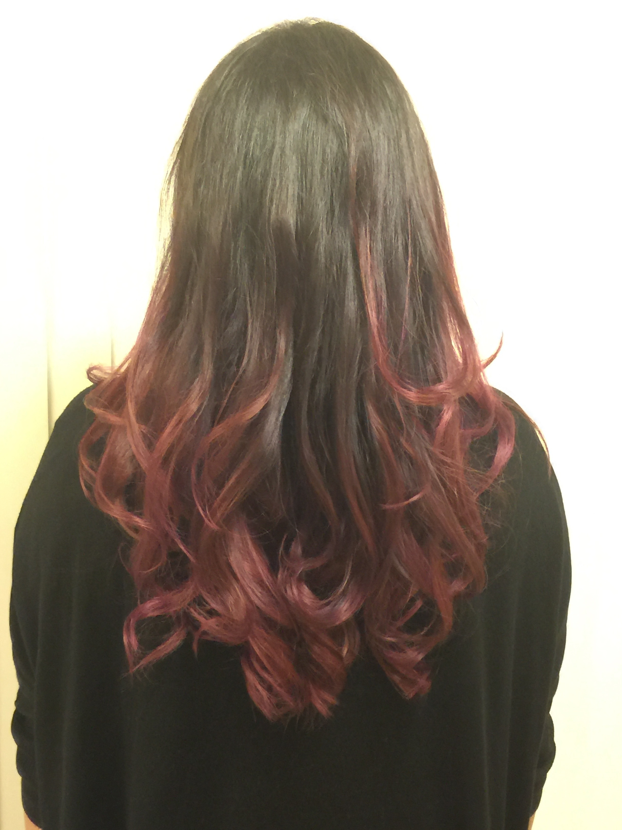Purple and Rose Gold Balayage Ombre