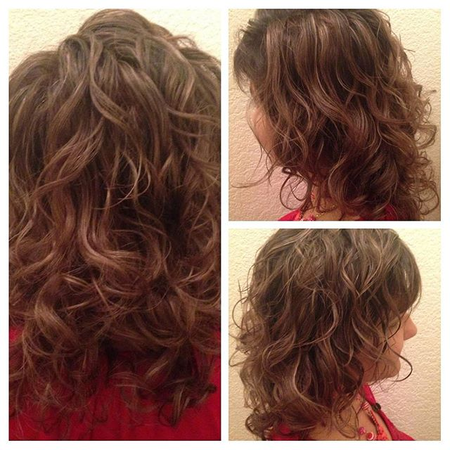 Babylights and Deva Cut on Curly Hair