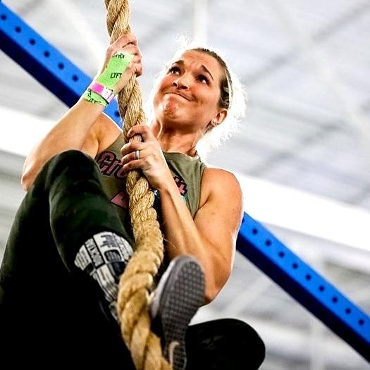 Carissa competing at the 2019 Granite Games Championship