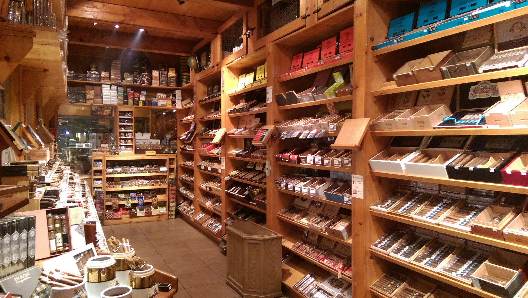 Walk in Humidor guaranteed to make you go WOW.  More inventory than you will ever need to find that perfect cigar.  At your cigar store you will find the latest in exiting new cigar brands like  El Gueguense cigr by Foundation cigar Co ,   Dapper Cigars , Black Works,  La Flor de Dominicana ,  Tatuaje ,  Illusion ,    Drew Estate Kuba Kuba , blondie,  Rocky Patel edje  ,  Davidof f,  Bloodline ,  Esteban Carreras ,  Padrone ,  just to name a few.