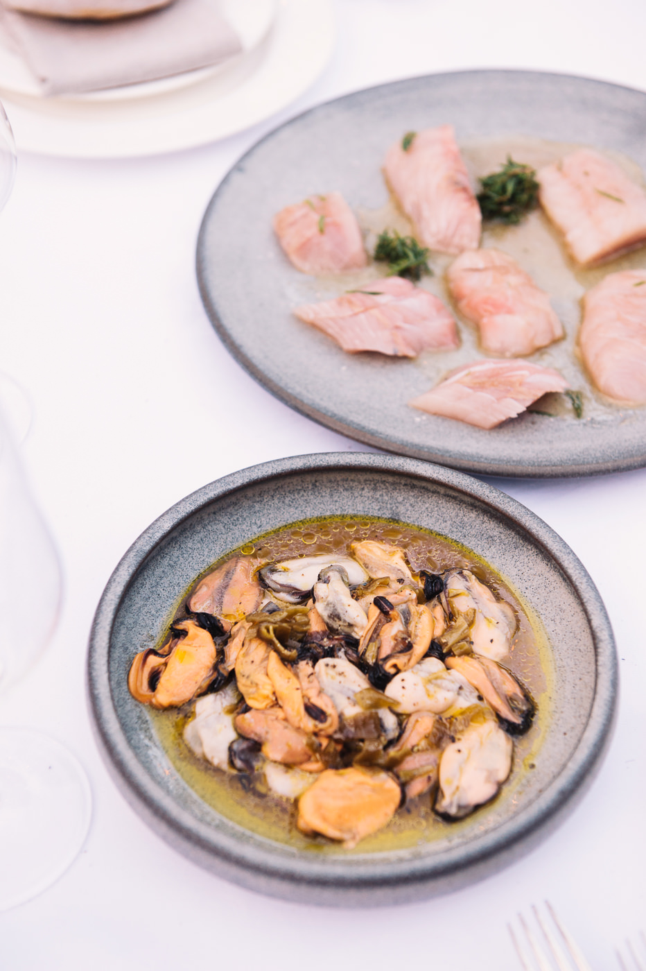 Tasmanian Salmon and mussels