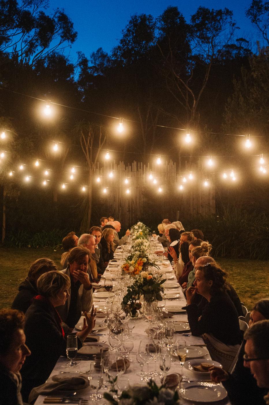 Tasmanian Coastal wedding feast