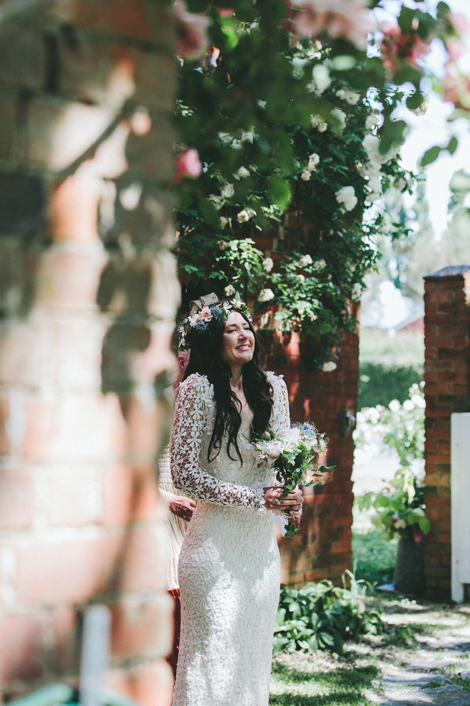 Excited bride!
