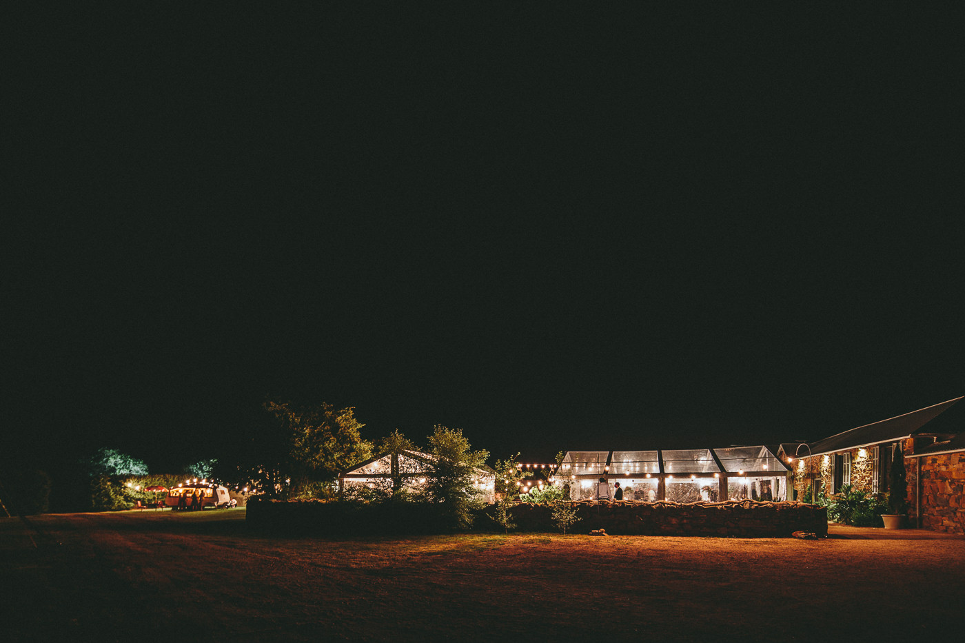 Clear marquee at night