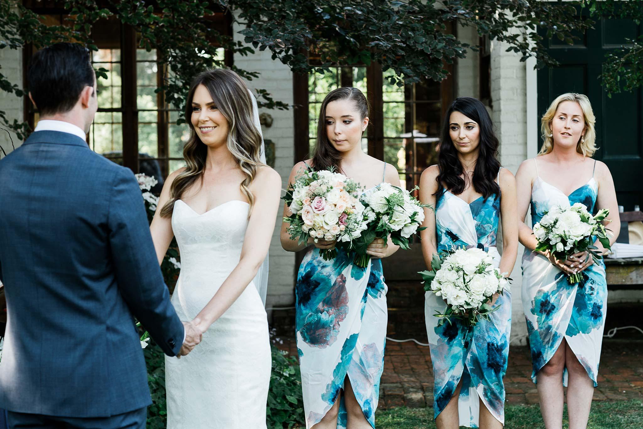 Brickendon wedding bridesmaids and bouquets