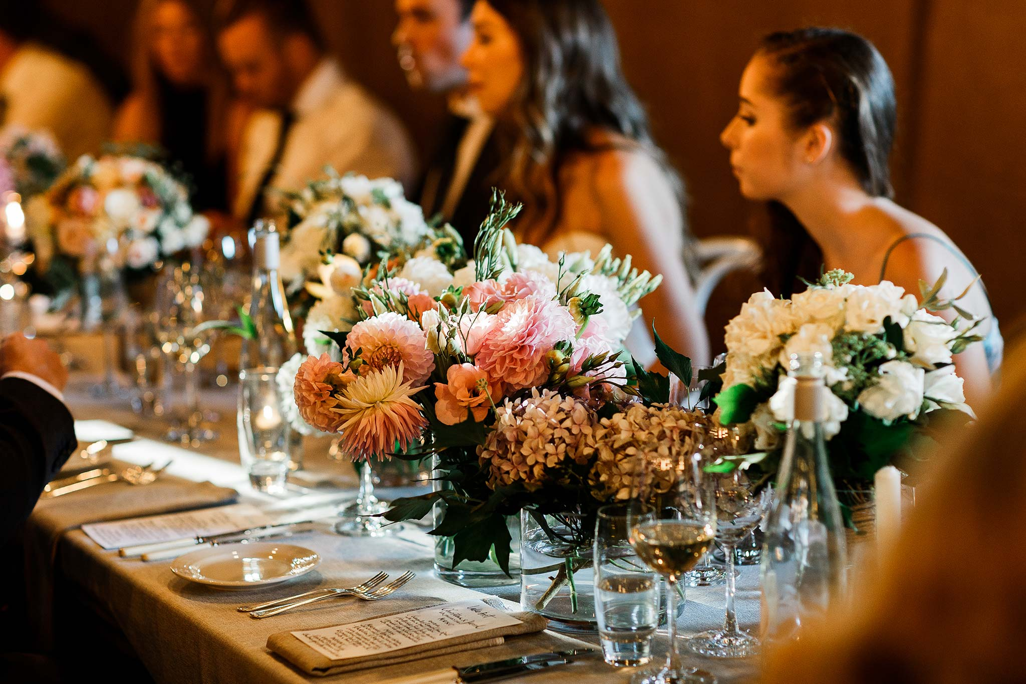 Seasonal table floral and bridal bouquets