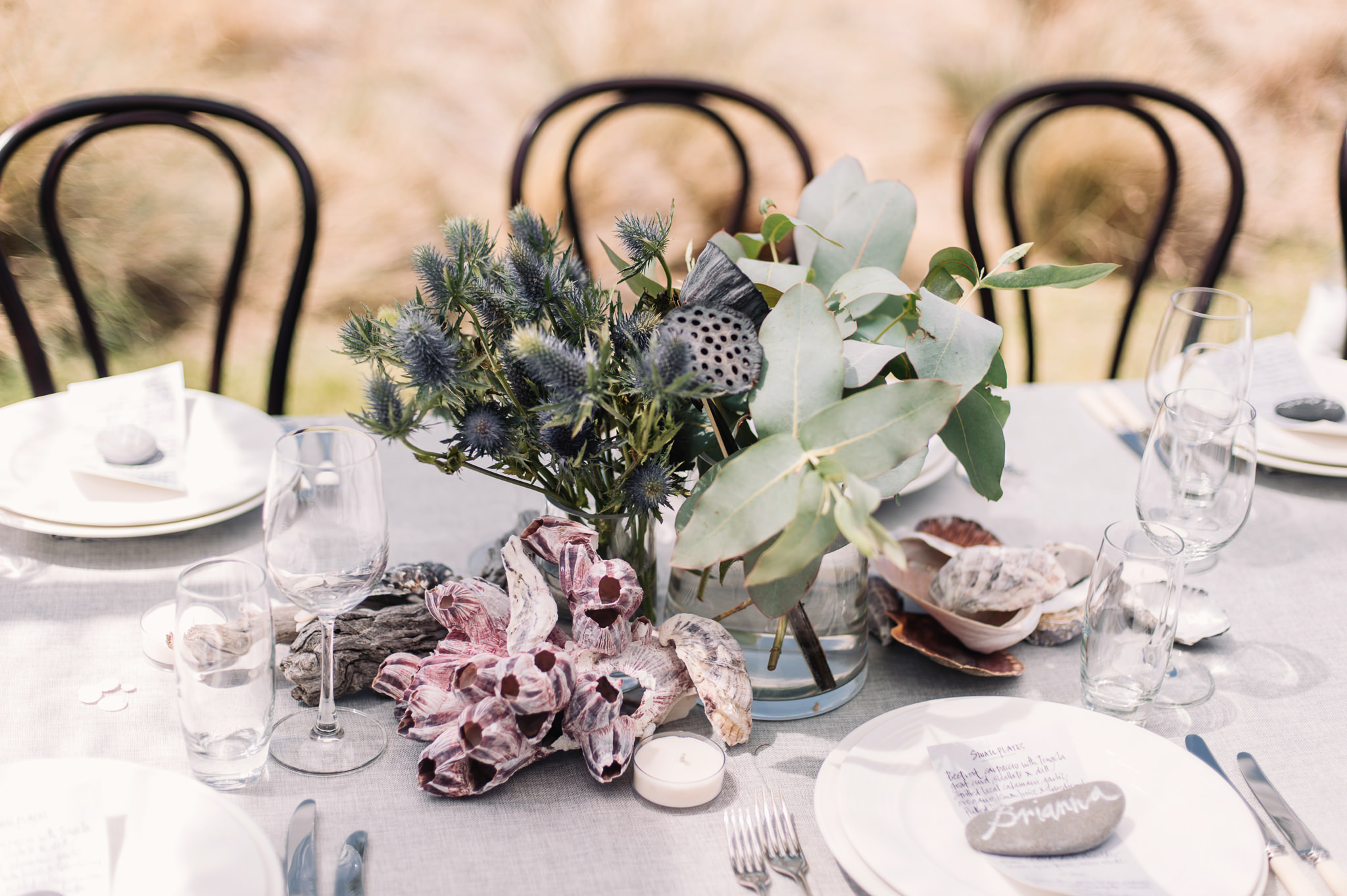Coastal elements for the long table