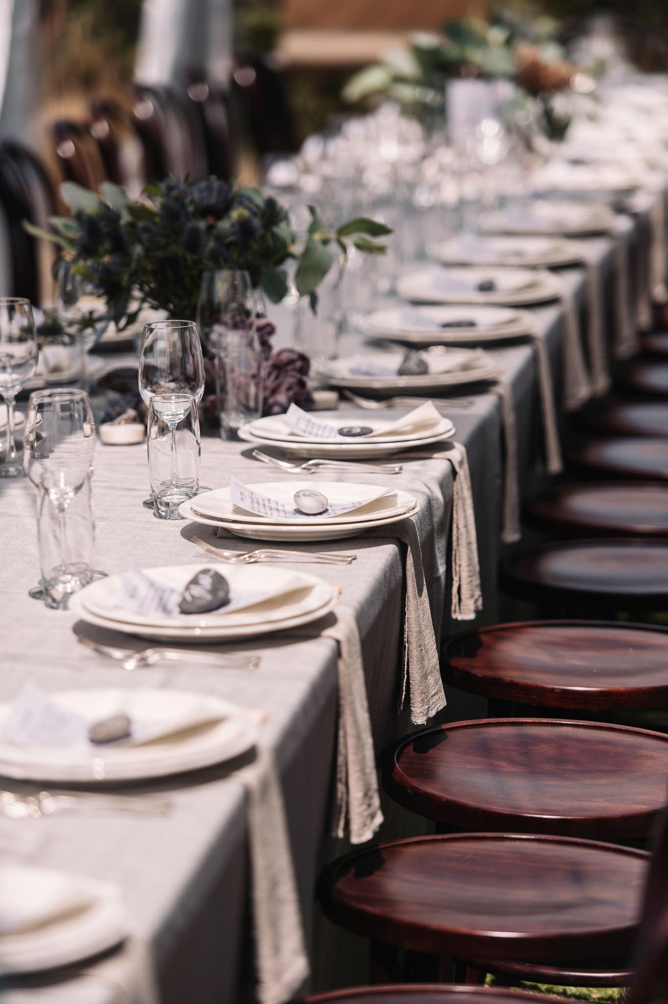 Long table coastal style