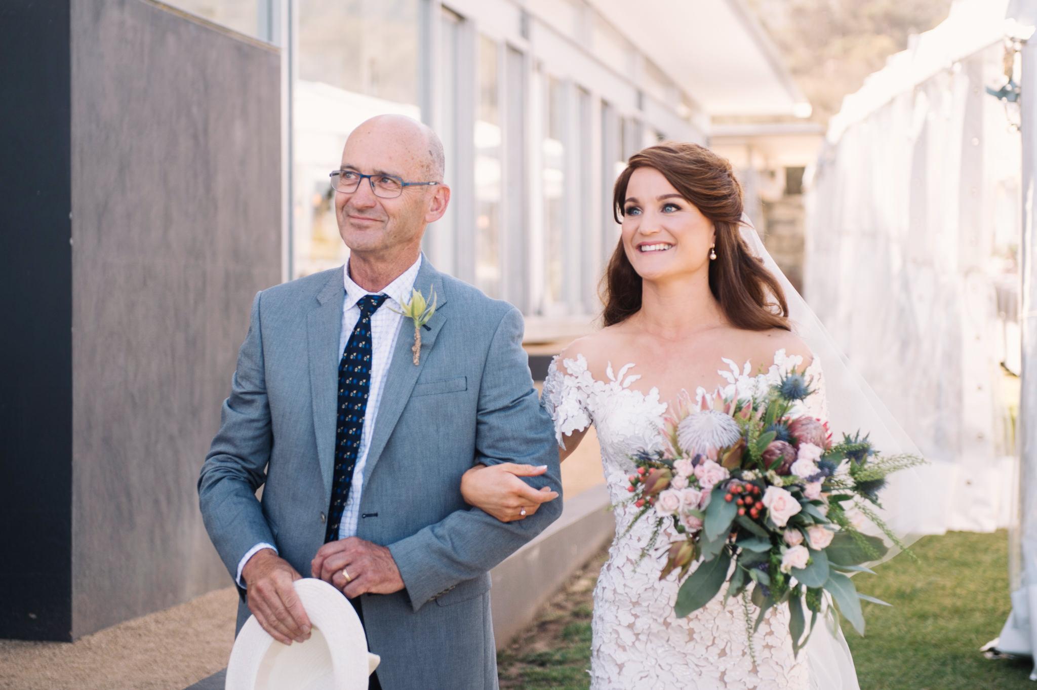 Bride arriving at Avalon