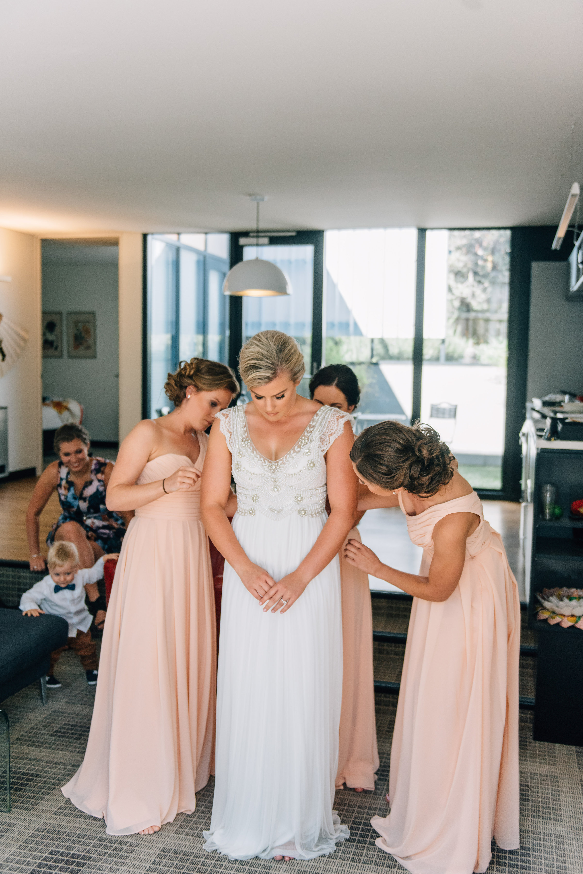The bride in Anna Campbell
