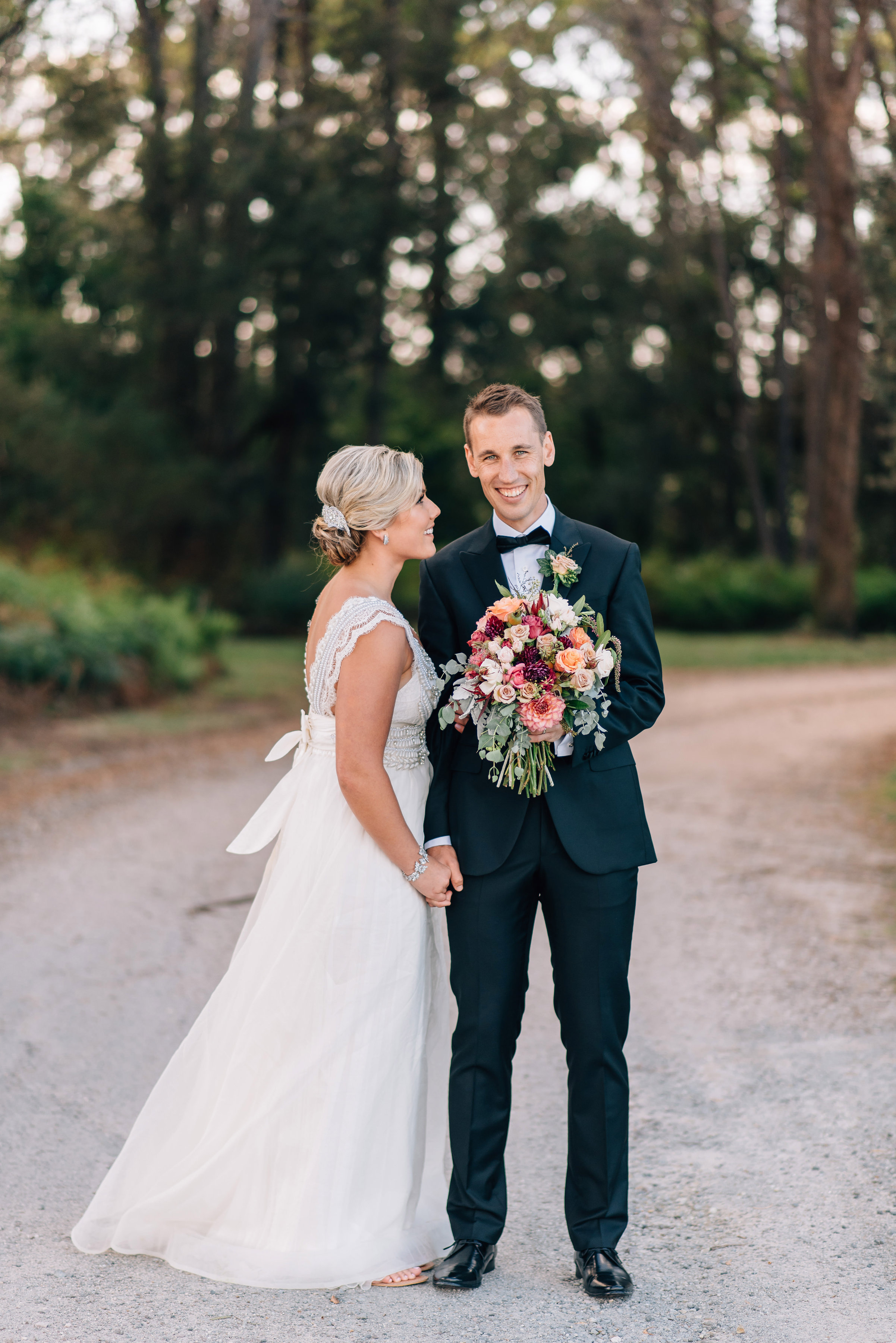 Bride and groom at Goaty Hill