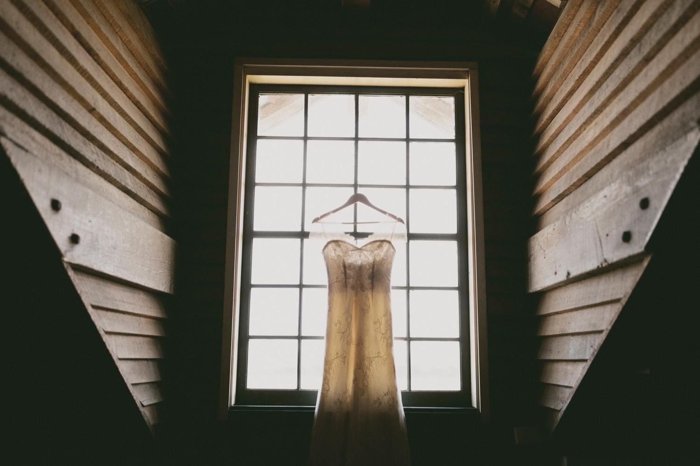 Bride's John Zimmerman gown at VDL Stanley.
