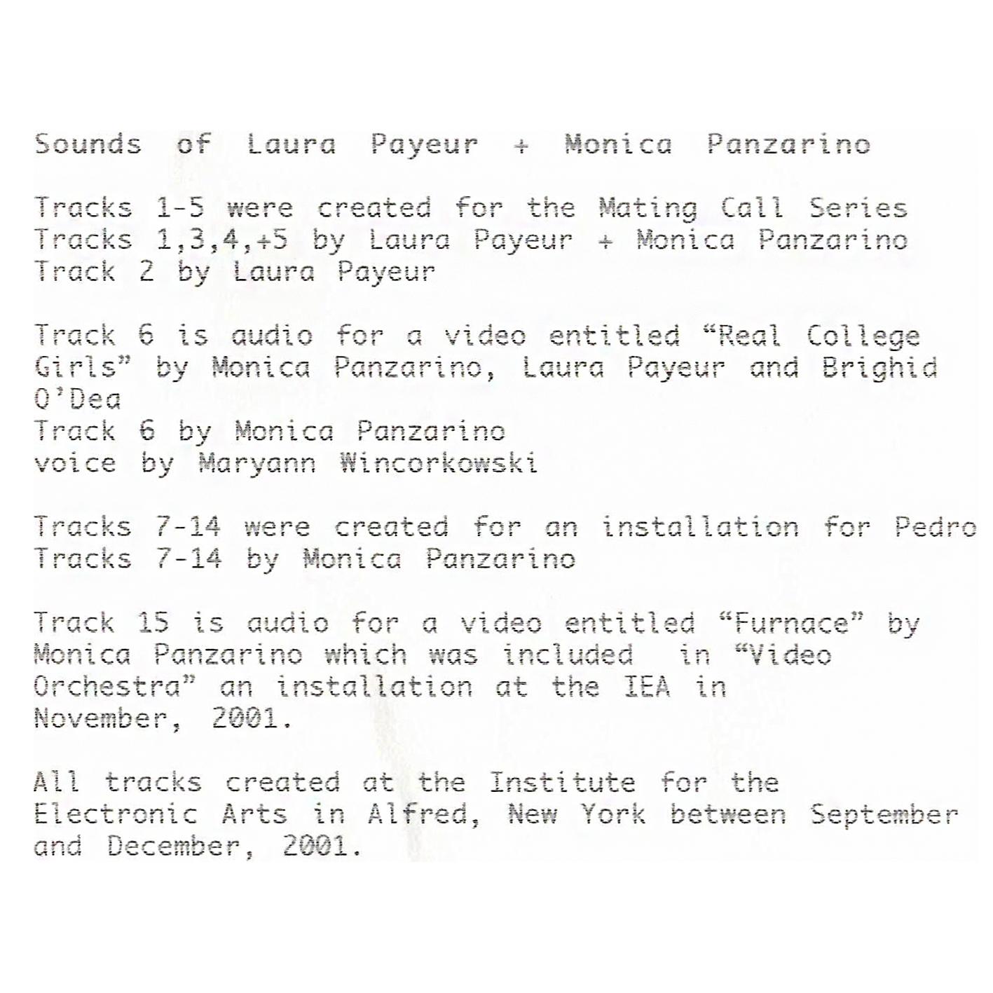 Sounds of Laura Payeur + Monica Panzarino Inside