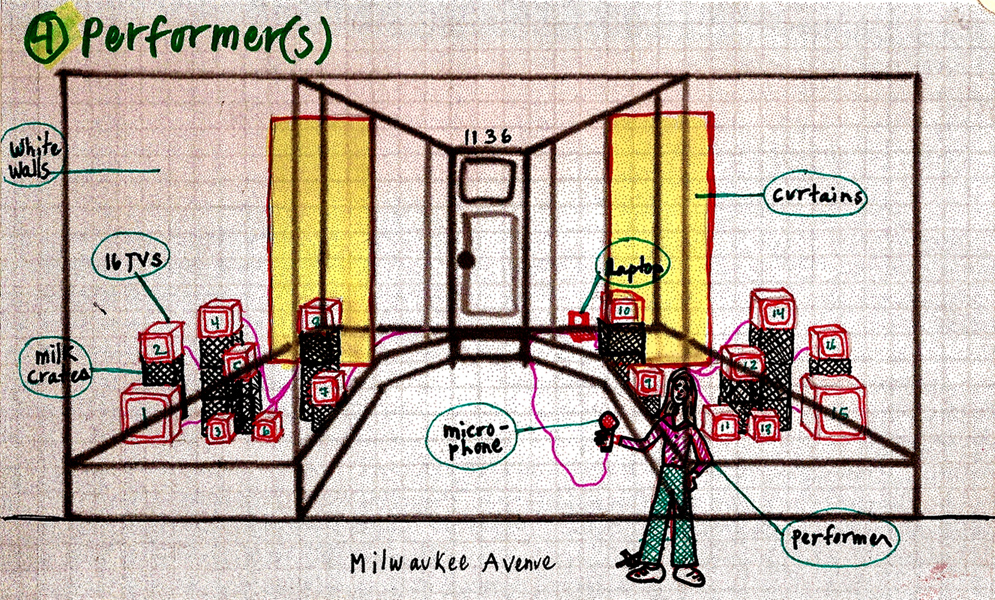 Live Studio Audience Schematic Drawing