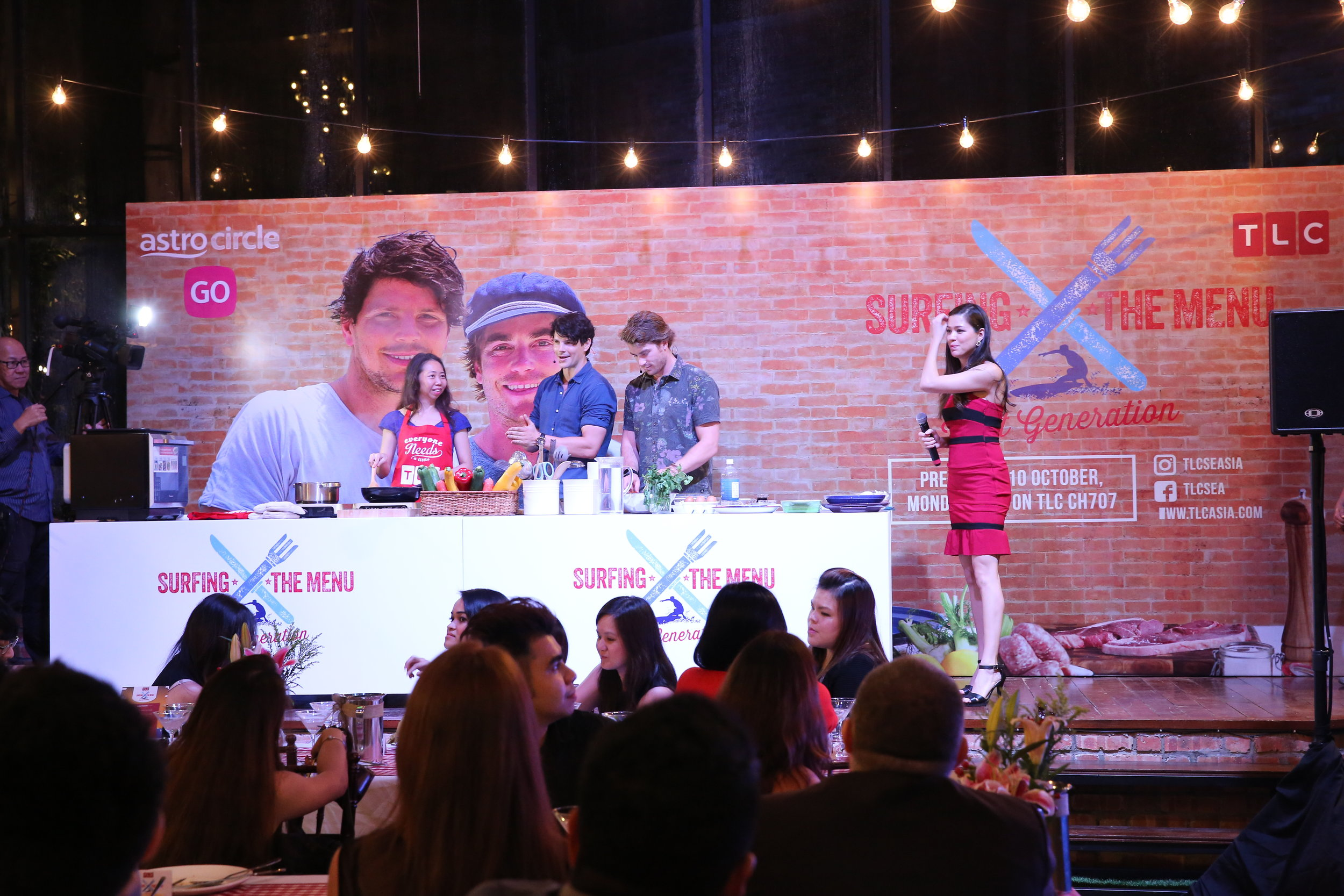 TLC's Surfing the Menu  serving up their Aussie charm for the launch of their new series.