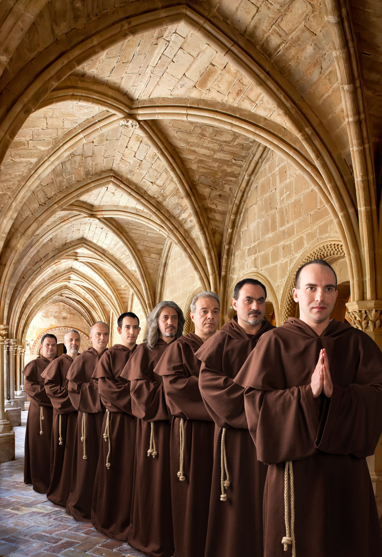 The Gregorian Voices, Plakatmotiv  Composing + Studioaufnahmen