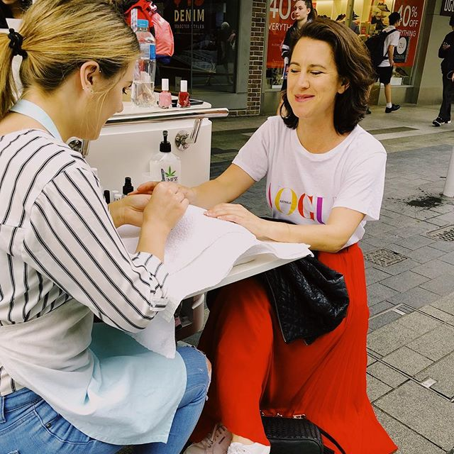 Take 10 minutes out of your day to make yourself feel a little special with our signature mini manicure...that's exactly what @sophieted did yesterday during the Vogue Fashion Festival in @rundlemall, just check out that gorgeous glow! 💃🏼 Our pop up nail bar is located on the corner of Rundle Mall and Gawler place (in front of strandbags) today from 9-5. We can't wait to pamper you!