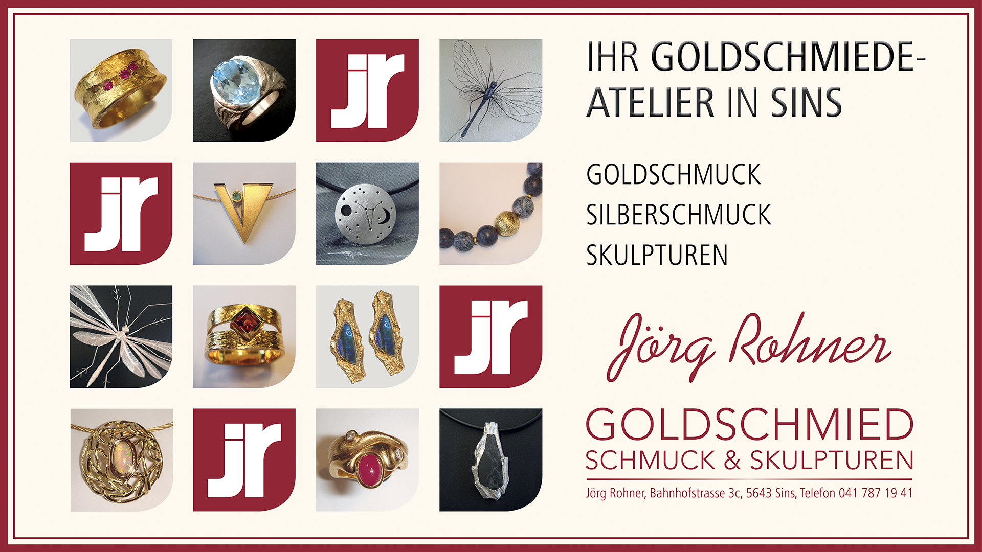 Jörg Rohner Goldschmied Sins
