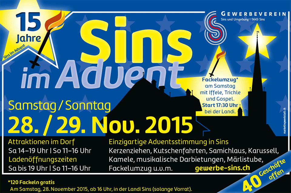 Sins im Advent 2015
