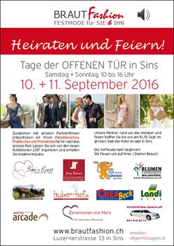 Jörg Rohner Goldschmied nimmt teil am Tag der offenen Tür bei Brautfashion in Sins, am 10./11. September 2016