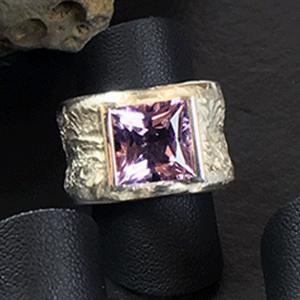Silberring mit Lavendel-Zirkon