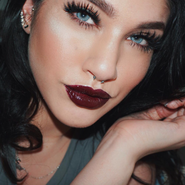 One of La'Tecia's latest, a vampy lip look. All images courtesy of La'tecia's Instagram