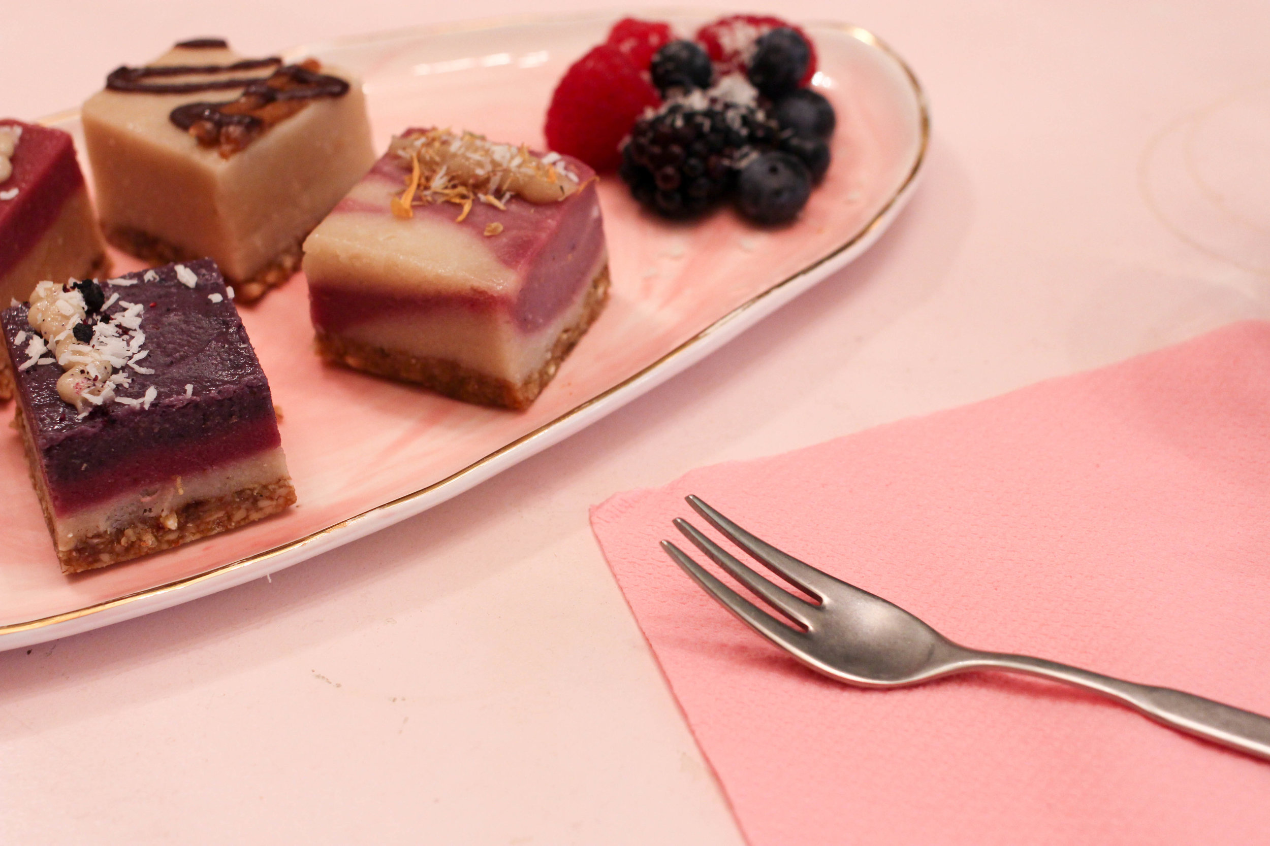 Amazing little pieces of heaven, AKA raw cakes at @PalmVaults. Photo: Charisse Kenion Ltd