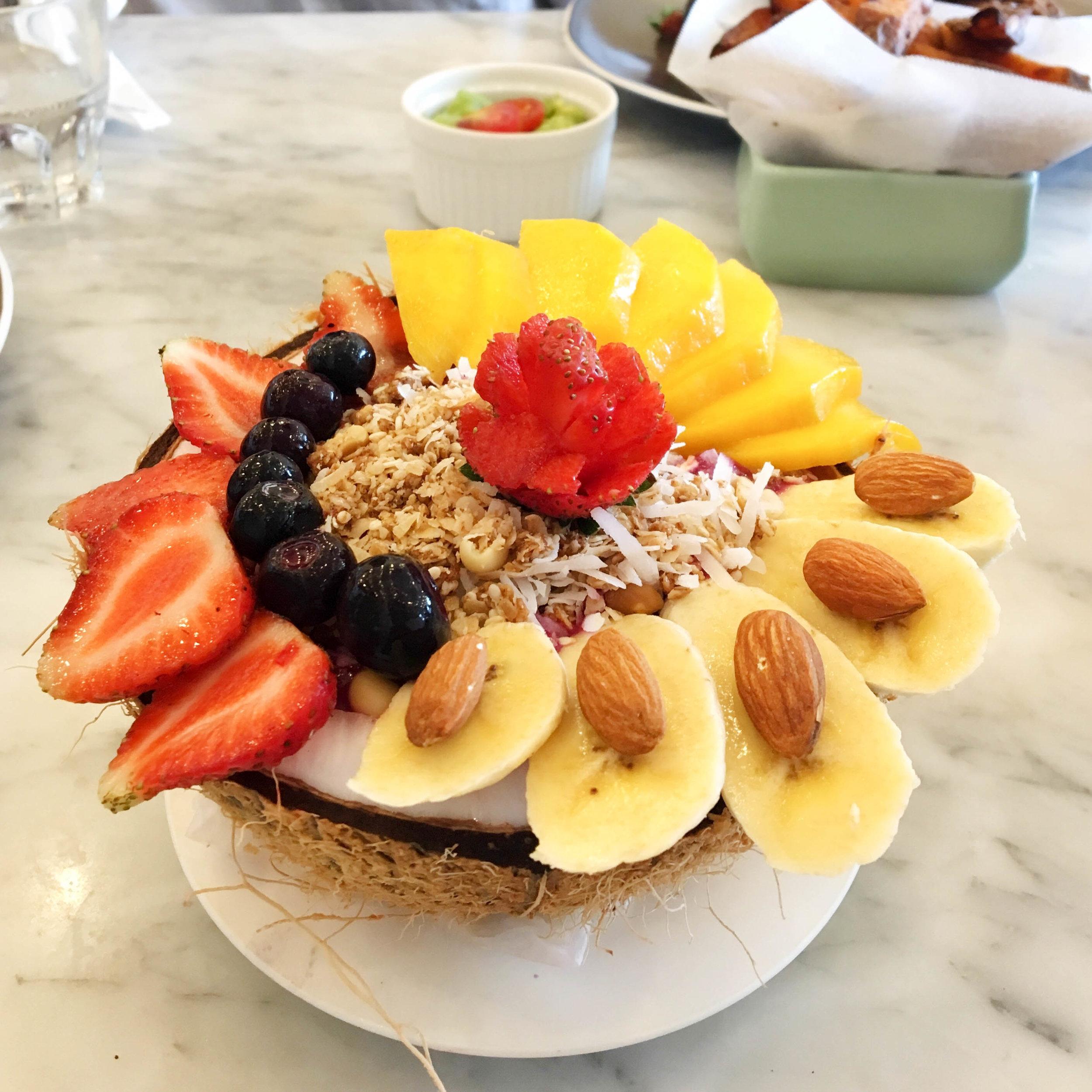 Cafe Organic's Acai Coco Bowl