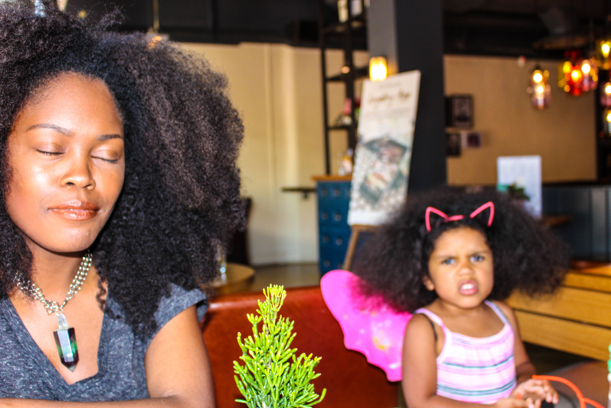 Outtake of Gina and the brilliant, expressive, Freya...
