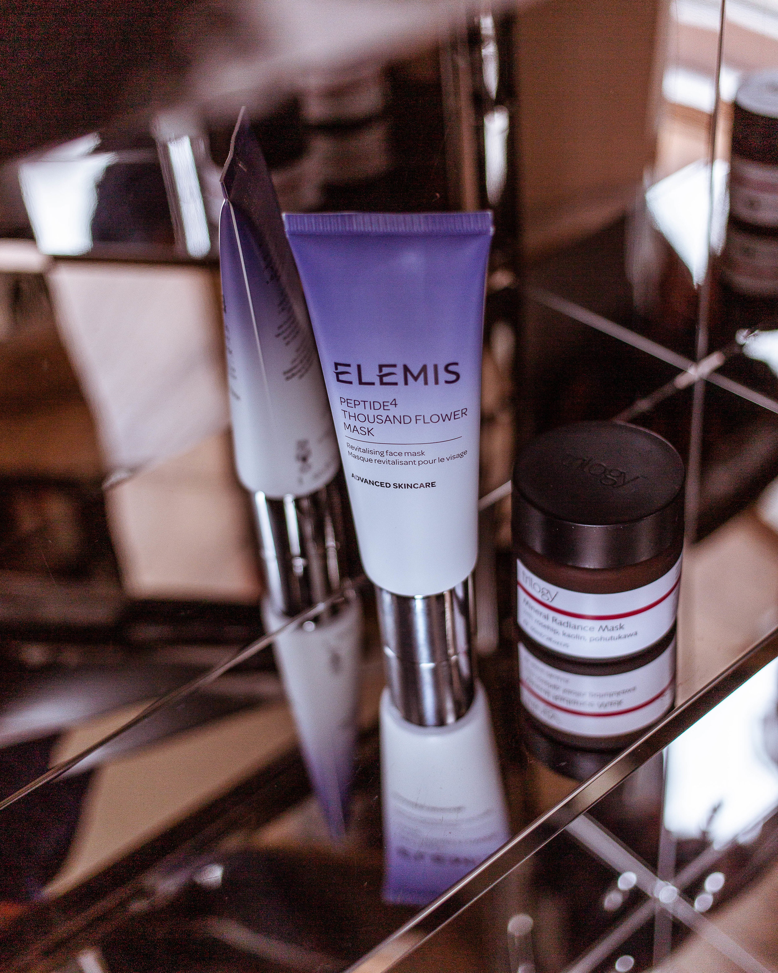 L-R: Elemis Thousand Flower Mask, Trilogy Mineral Radiance Mask